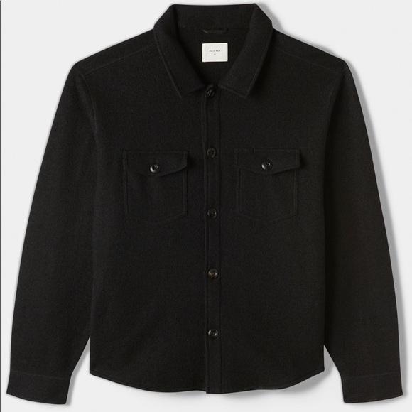 Billy Reid mens Billy Reid Mens Boiled Wool Shirt Jacket